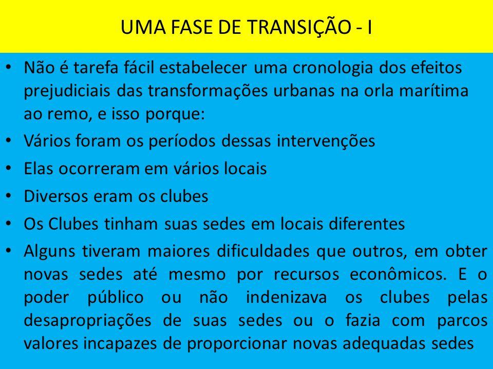 UMA FASE DE TRANSIÇÃO - I