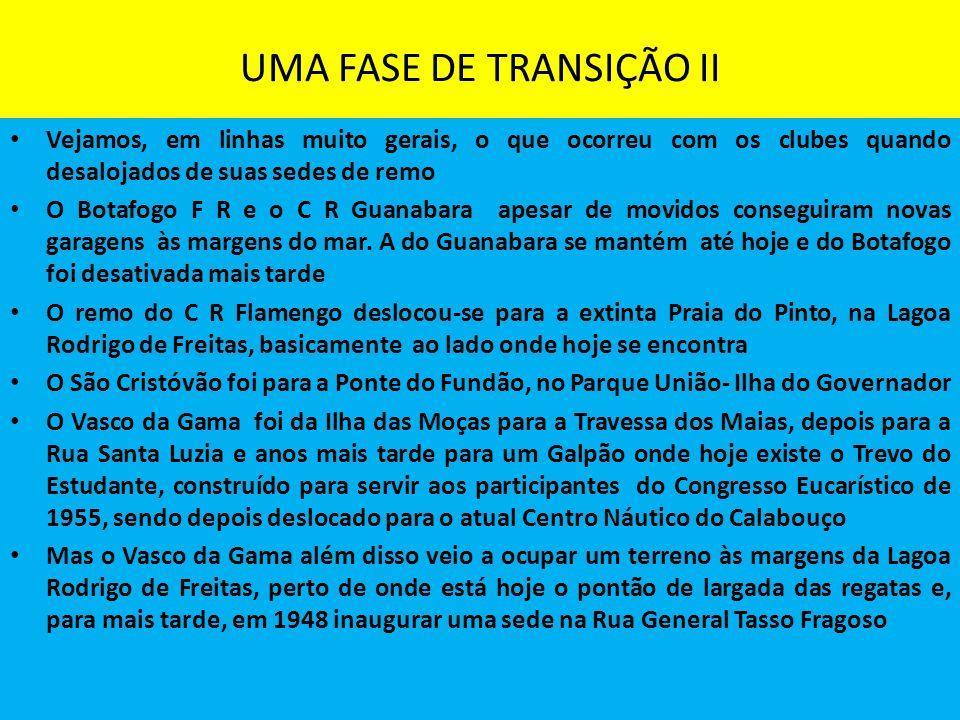 UMA FASE DE TRANSIÇÃO II