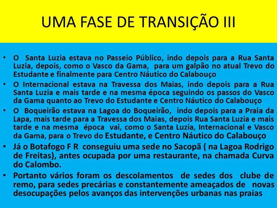 UMA FASE DE TRANSIÇÃO III