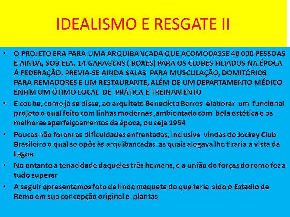 IDEALISMO E RESGATE II
