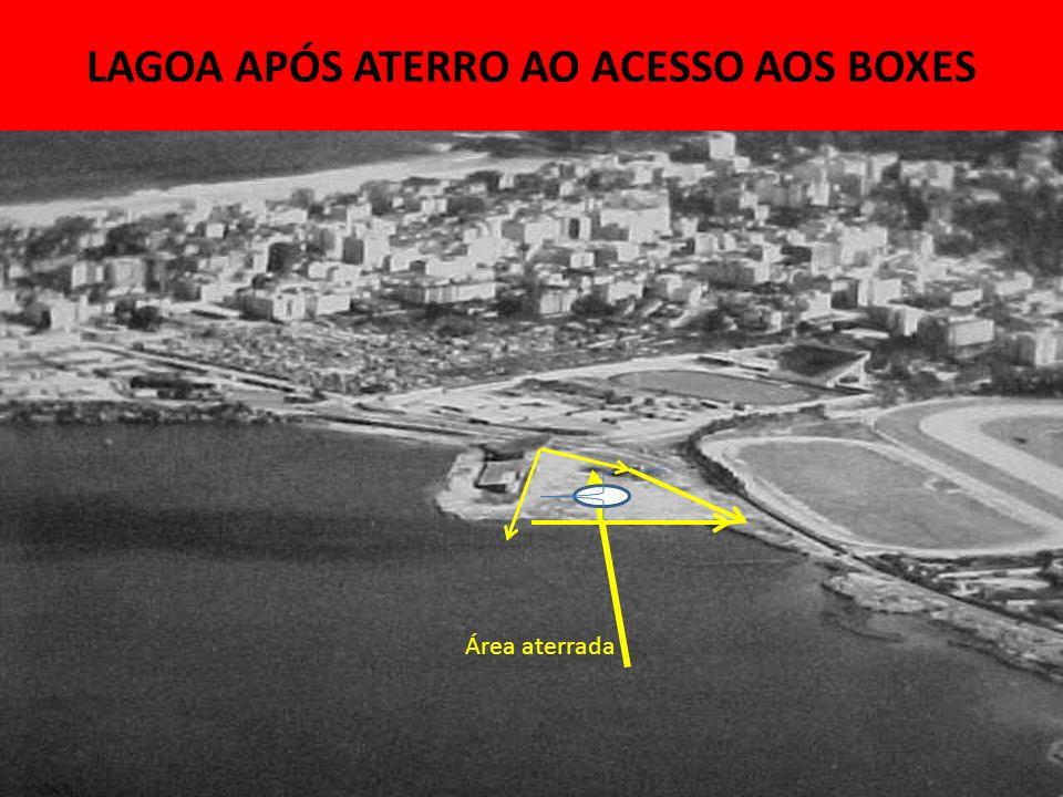 LAGOA APÓS ATERRO AO ACESSO AOS BOXES