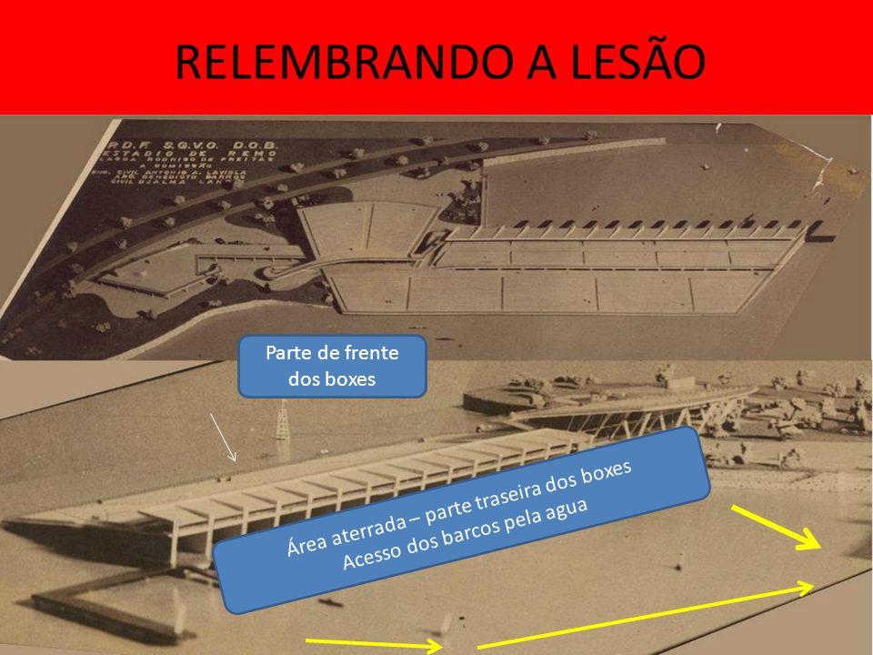 RELEMBRANDO A LESÃO Parte de frente dos boxes