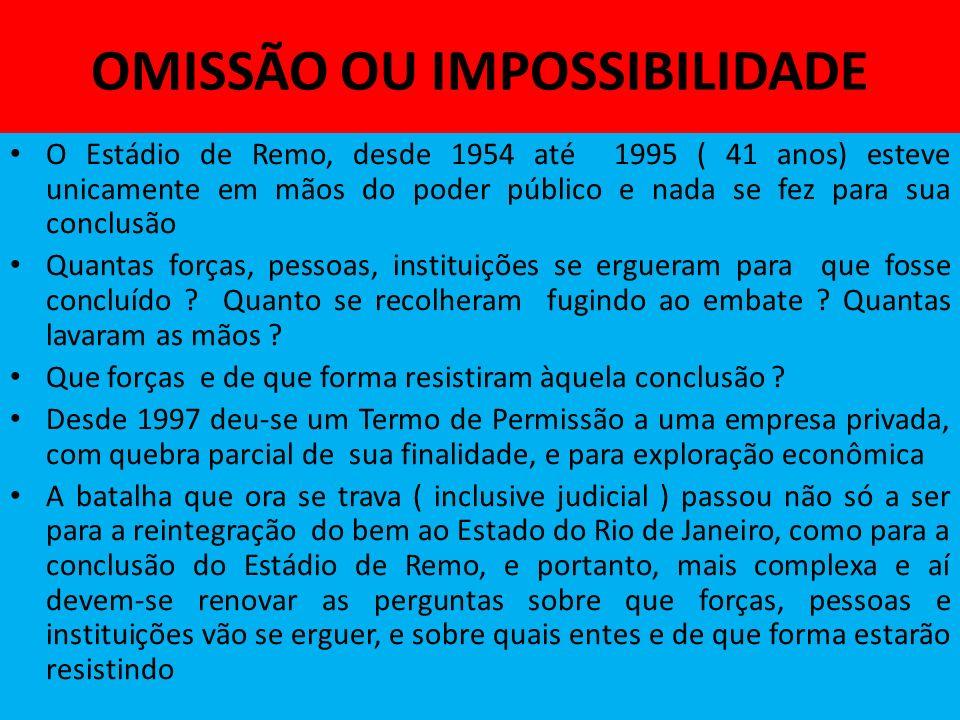 OMISSÃO OU IMPOSSIBILIDADE
