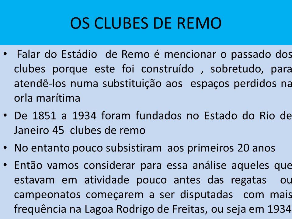 OS CLUBES DE REMO