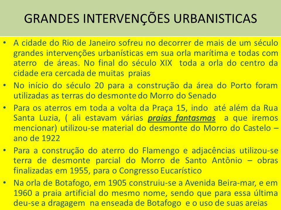 GRANDES INTERVENÇÕES URBANISTICAS