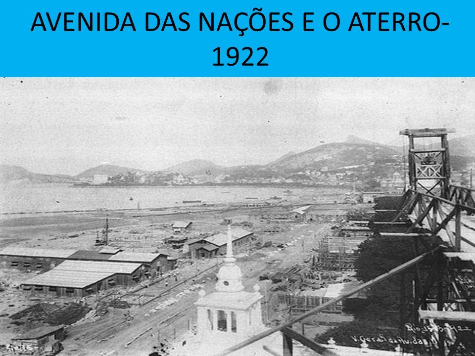 AVENIDA DAS NAÇÕES E O ATERRO- 1922