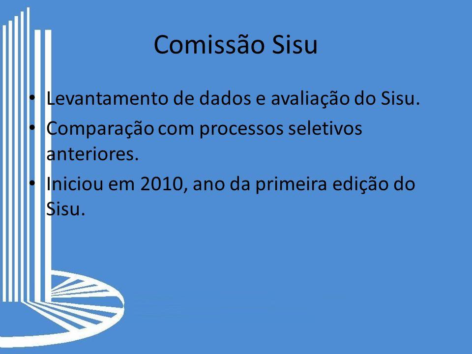 Comissão Sisu Levantamento de dados e avaliação do Sisu.