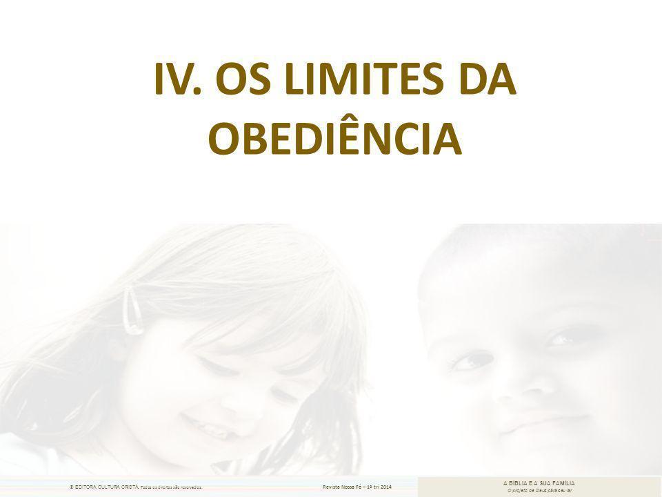 Iv. Os limites da obediência