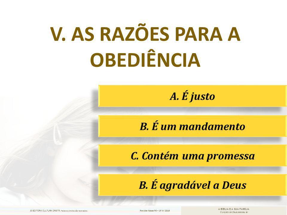 v. As razões para a obediência