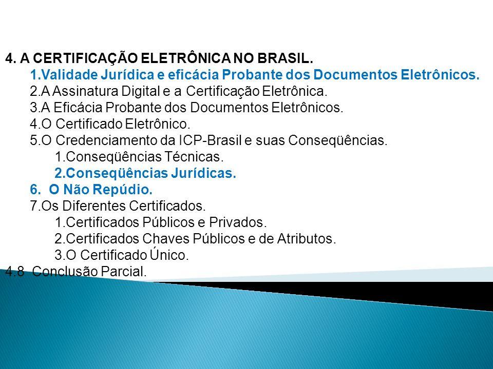 4. A CERTIFICAÇÃO ELETRÔNICA NO BRASIL.