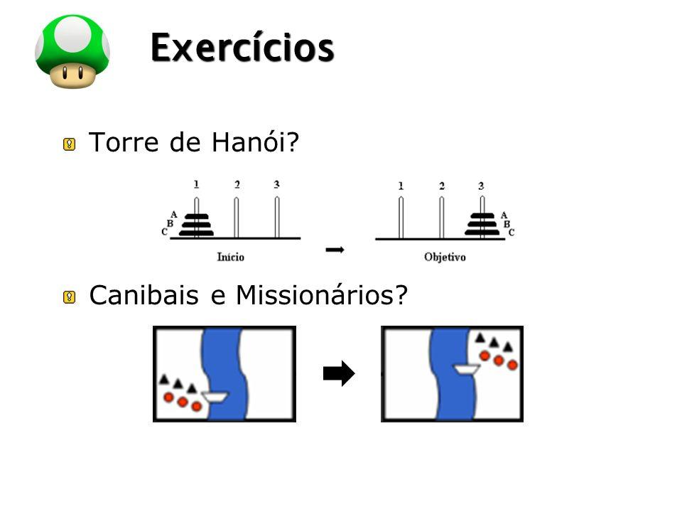 Exercícios Torre de Hanói Canibais e Missionários