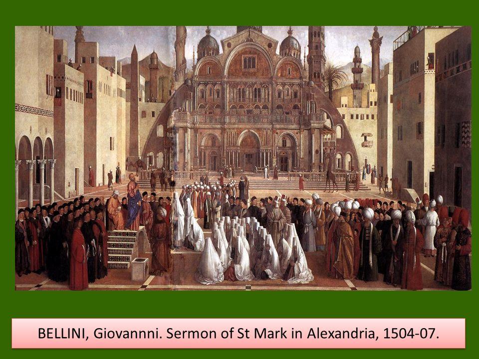 BELLINI, Giovannni. Sermon of St Mark in Alexandria, 1504-07.