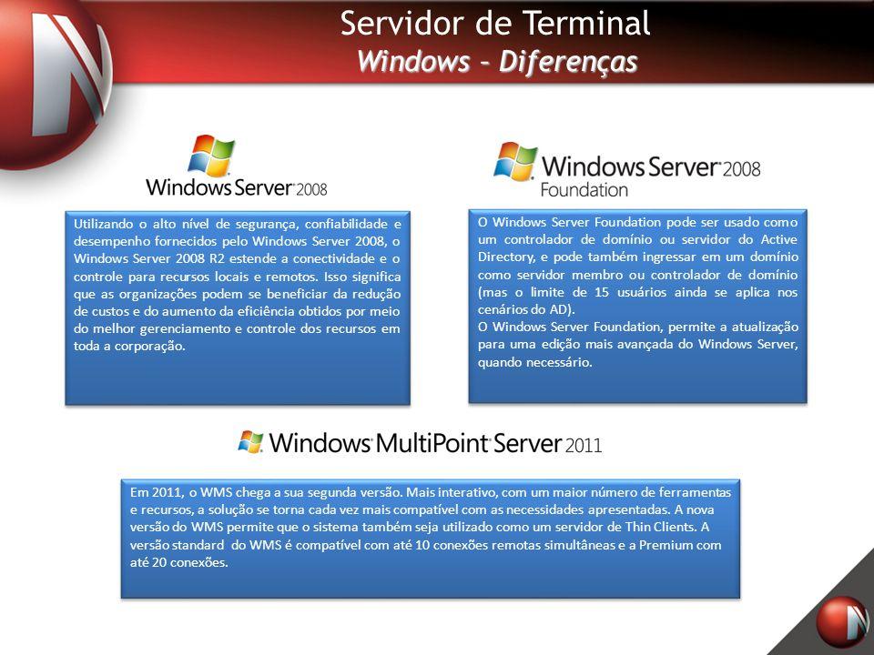 Servidor de Terminal Windows – Diferenças