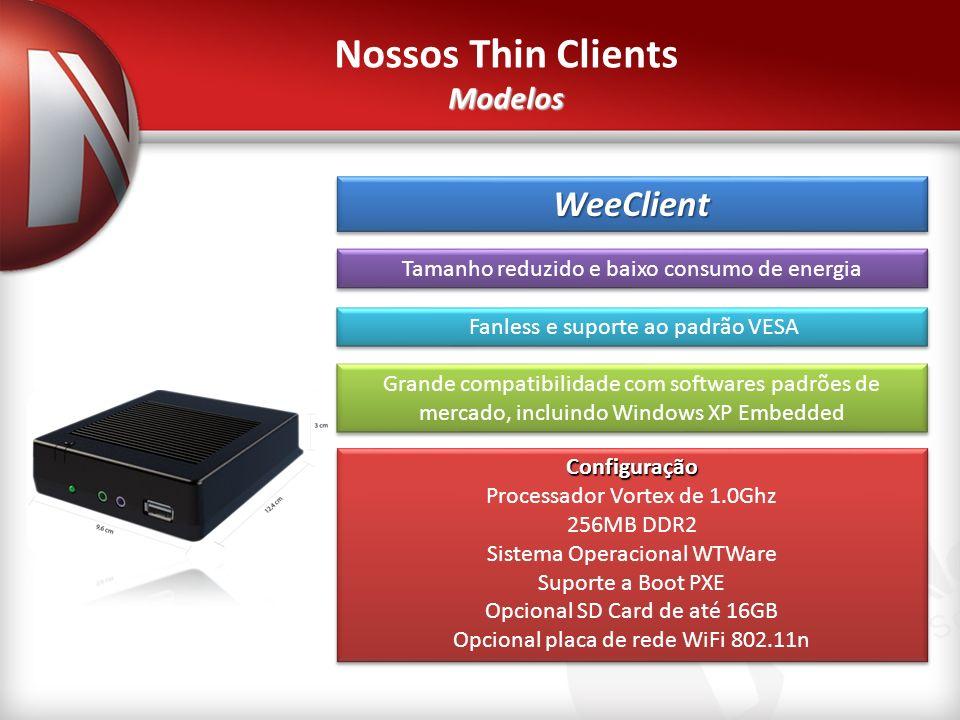 Nossos Thin Clients WeeClient WeeClient Modelos