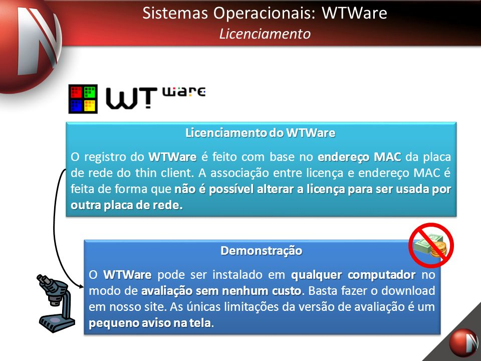 Licenciamento do WTWare