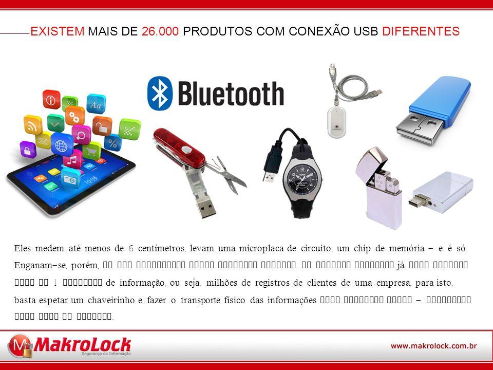 EXISTEM MAIS DE 26.000 PRODUTOS COM CONEXÃO USB DIFERENTES