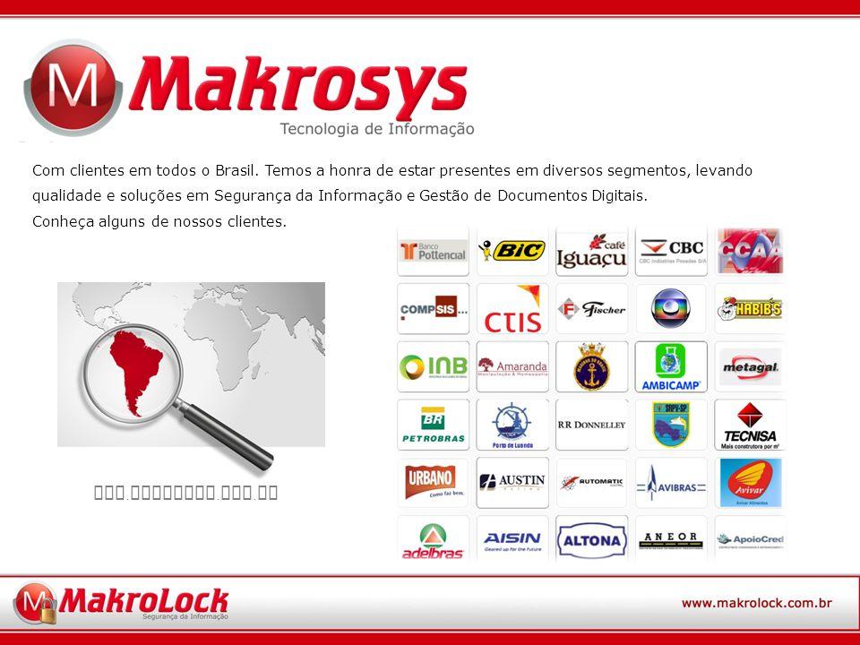 Com clientes em todos o Brasil