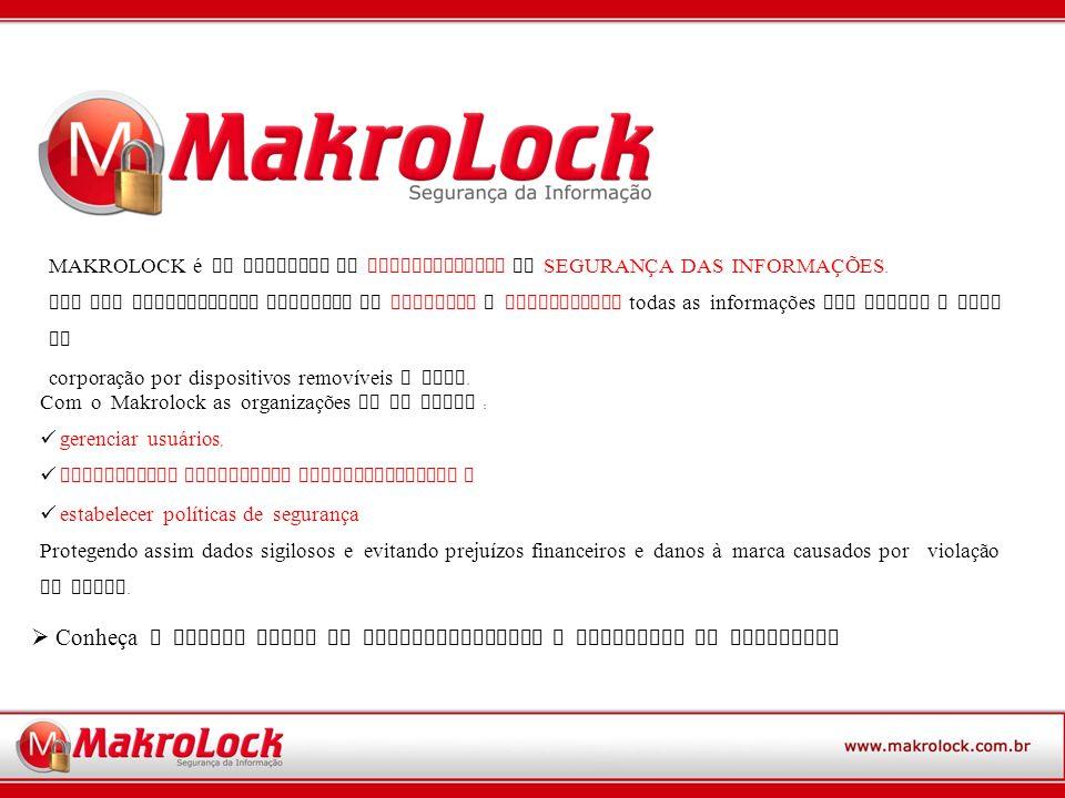 Conheça a seguir todas as funcionalidades e vantagens do MAKROLOCK