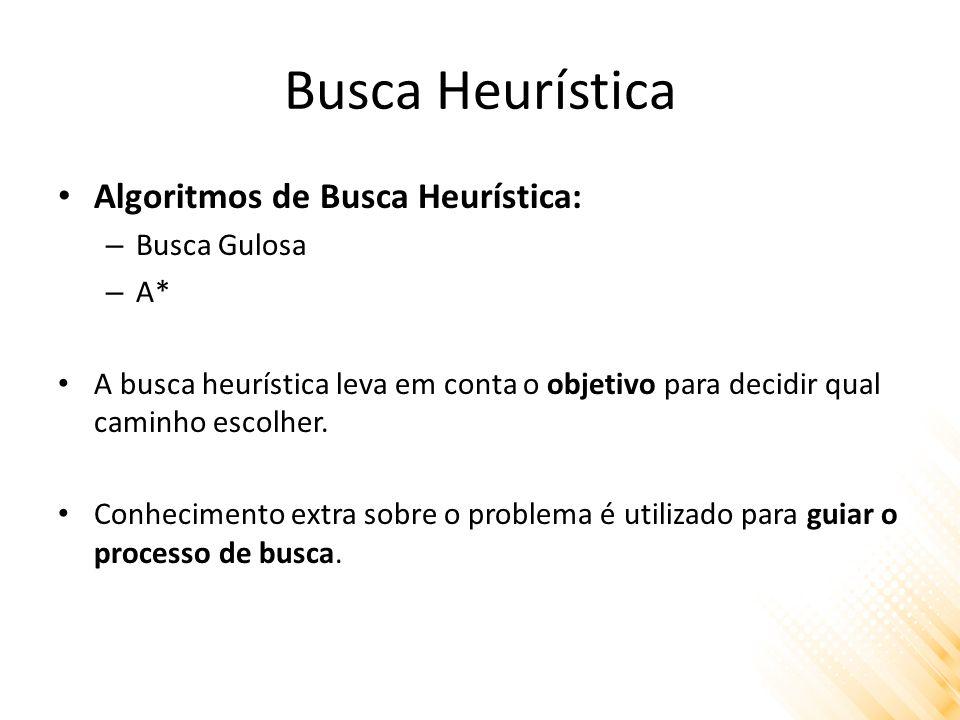 Busca Heurística Algoritmos de Busca Heurística: Busca Gulosa A*