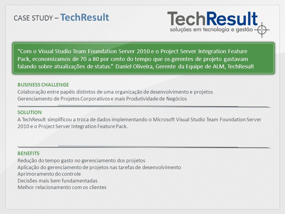 CASE STUDY – TechResult
