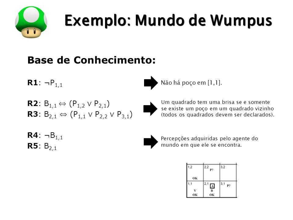 Exemplo: Mundo de Wumpus