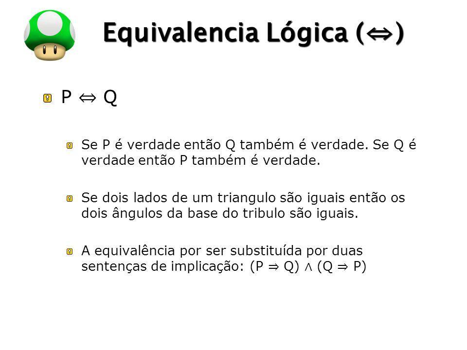 Equivalencia Lógica (⇔)