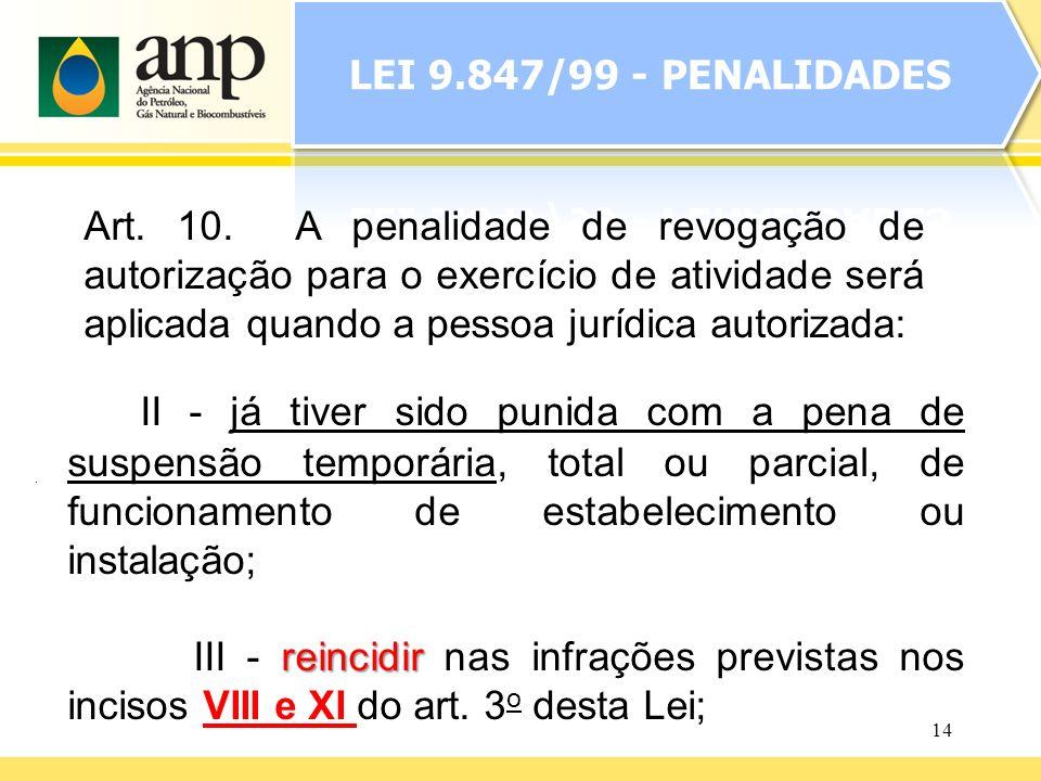 LEI 9.847/99 - PENALIDADES