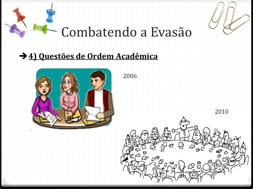 Combatendo a Evasão 4) Questões de Ordem Acadêmica 2006 2010