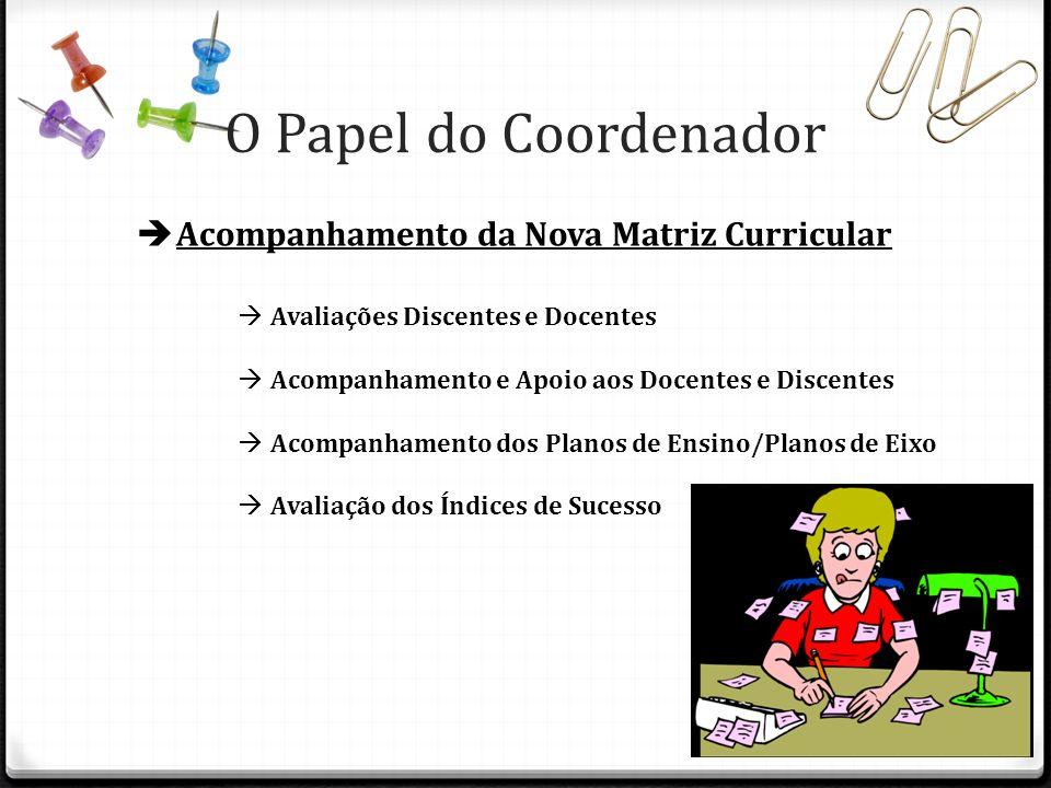 O Papel do Coordenador Acompanhamento da Nova Matriz Curricular