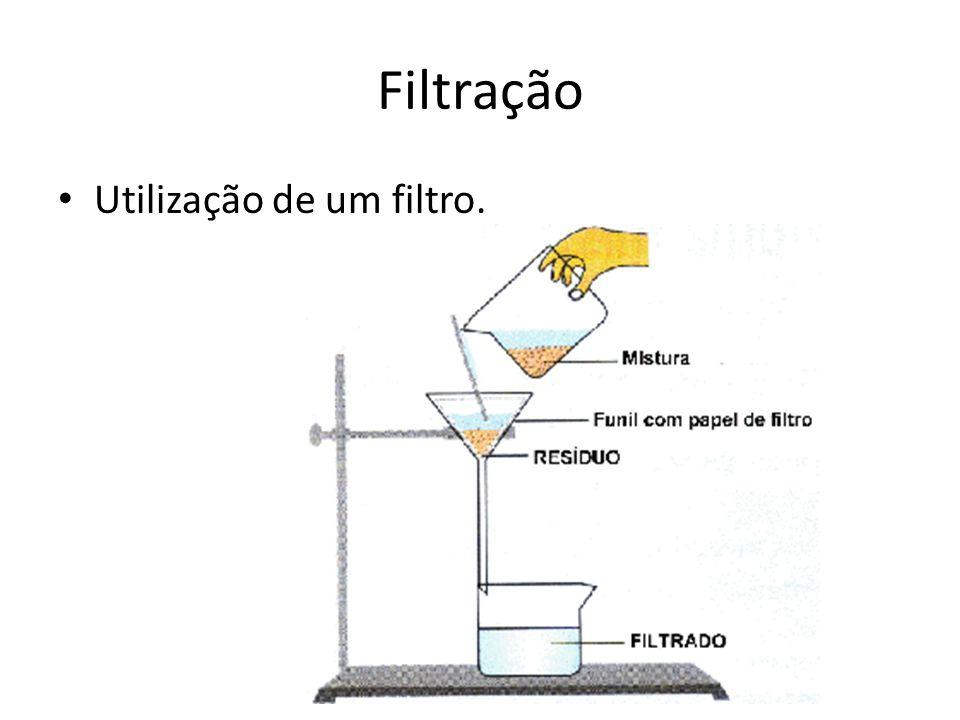 Filtração Utilização de um filtro.