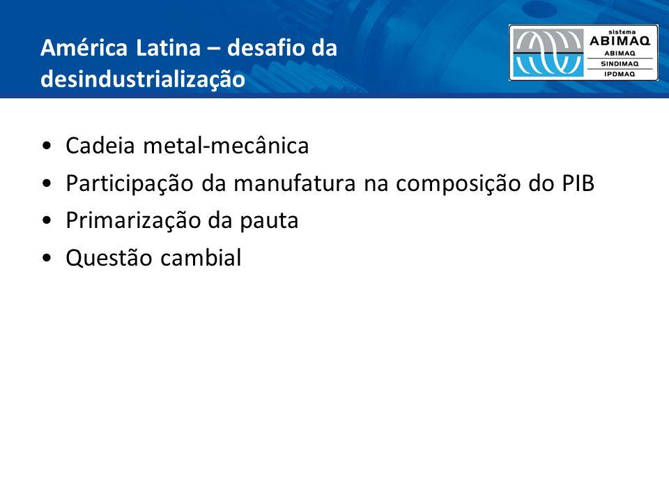 América Latina – desafio da desindustrialização