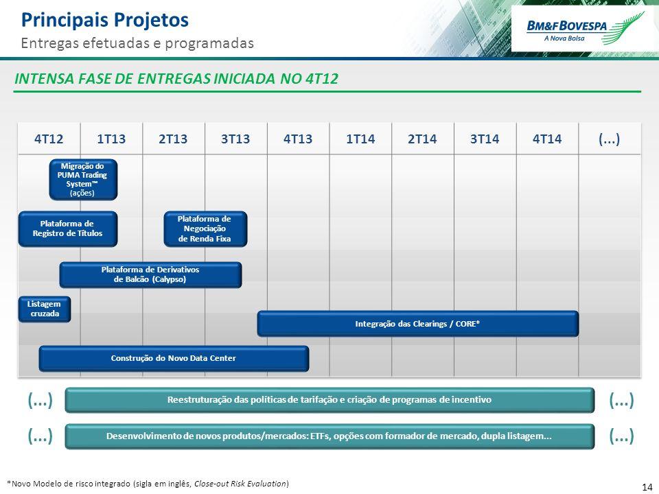 Principais Projetos (...) (...) (...) (...)