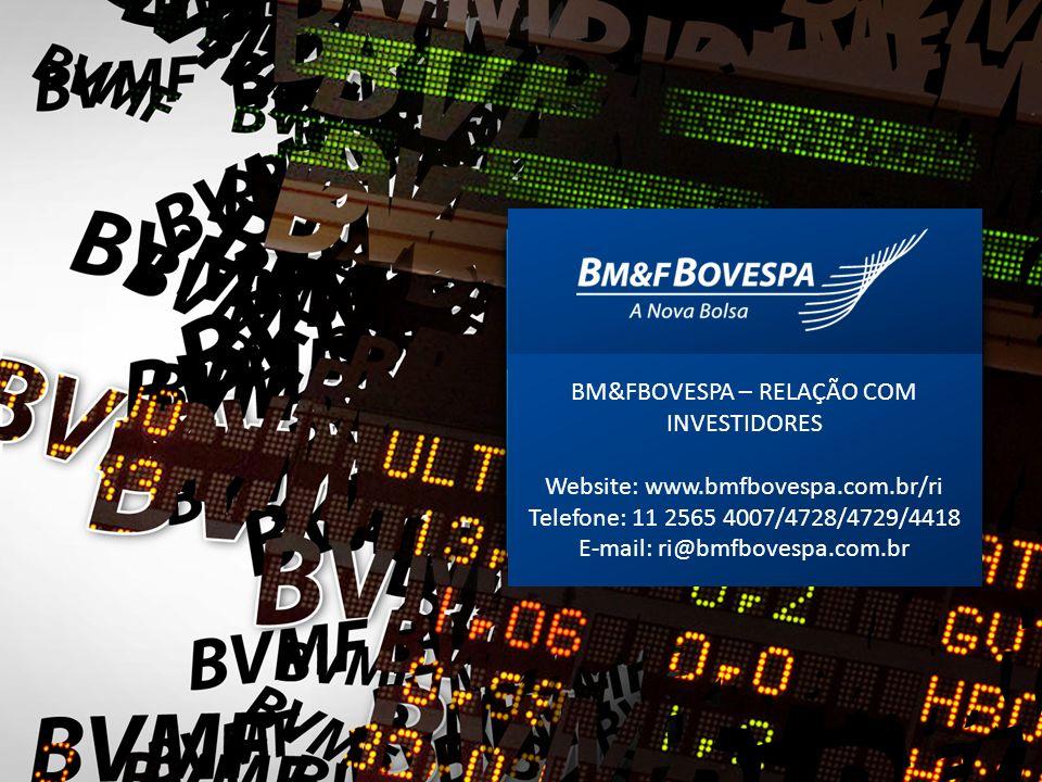 BM&FBOVESPA – RELAÇÃO COM INVESTIDORES