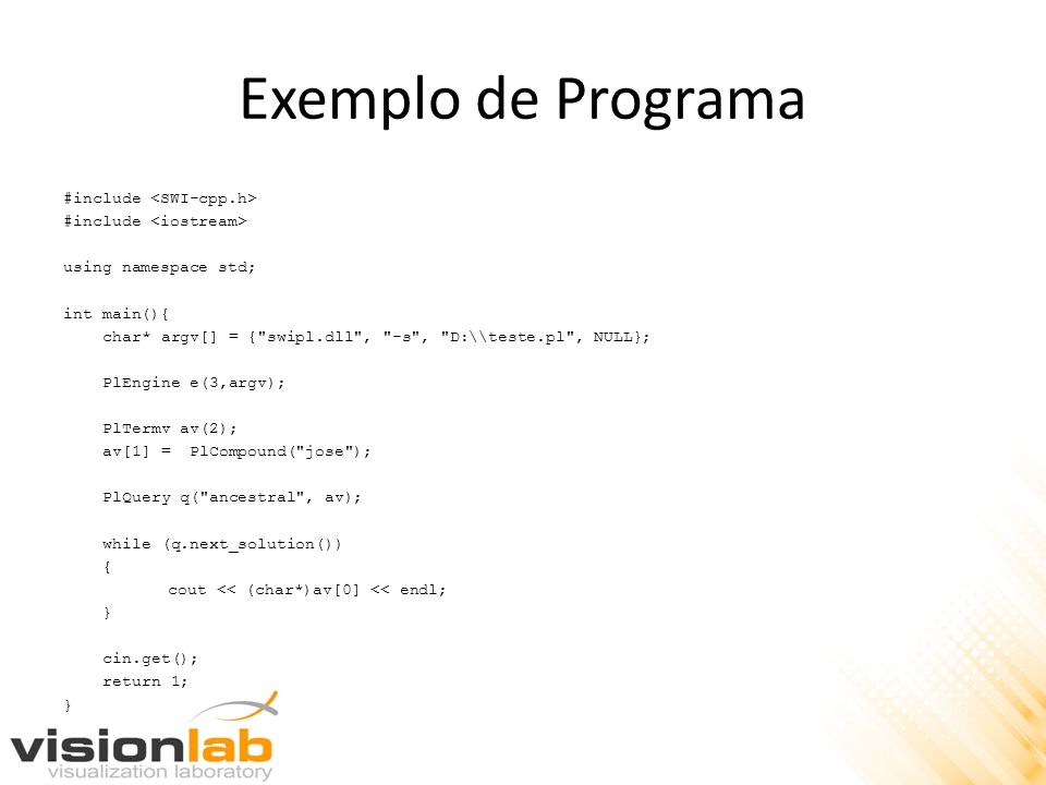Exemplo de Programa