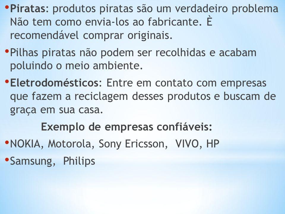 Piratas: produtos piratas são um verdadeiro problema Não tem como envia-los ao fabricante. È recomendável comprar originais.