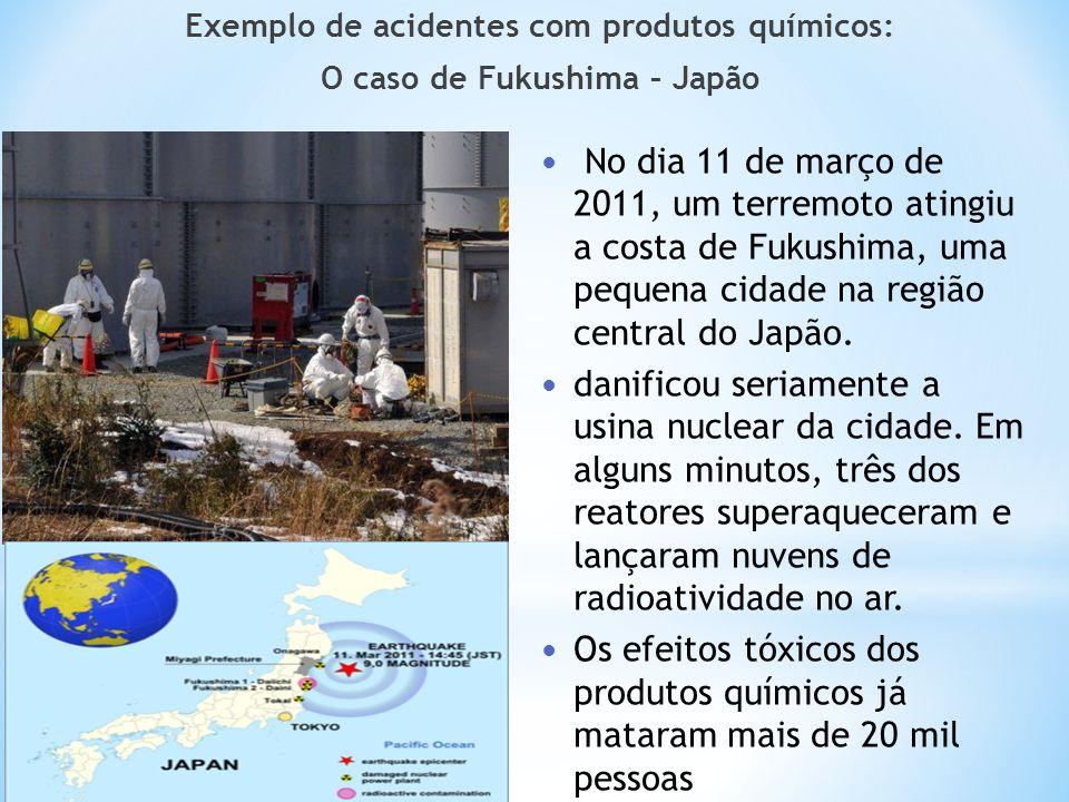 Exemplo de acidentes com produtos químicos: O caso de Fukushima – Japão