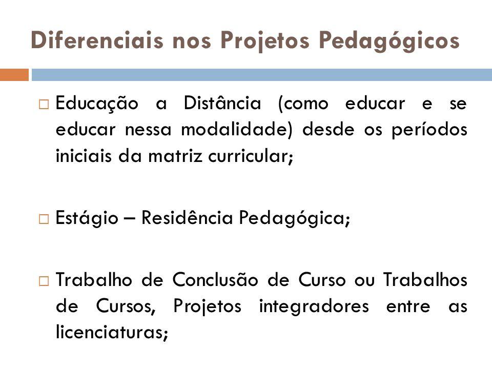 Diferenciais nos Projetos Pedagógicos