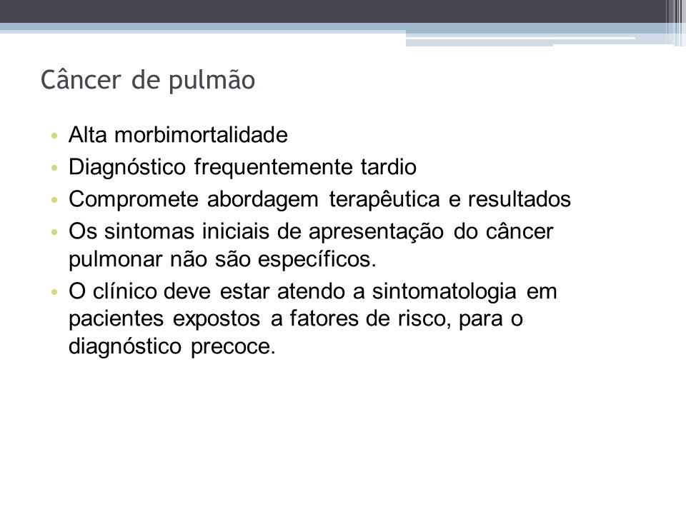 Câncer de pulmão Alta morbimortalidade