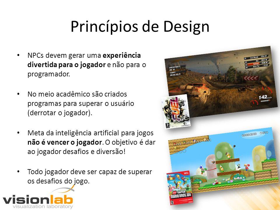 Princípios de Design NPCs devem gerar uma experiência divertida para o jogador e não para o programador.