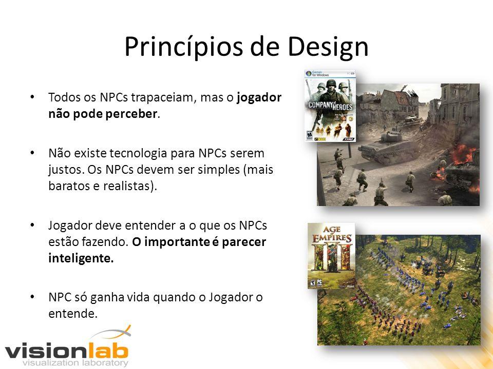 Princípios de Design Todos os NPCs trapaceiam, mas o jogador não pode perceber.