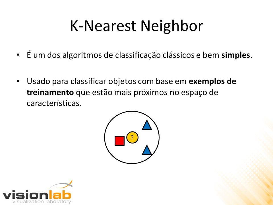 K-Nearest Neighbor É um dos algoritmos de classificação clássicos e bem simples.