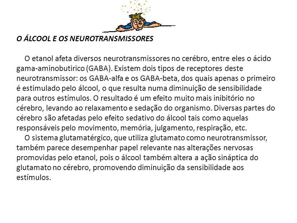 O ÁLCOOL E OS NEUROTRANSMISSORES