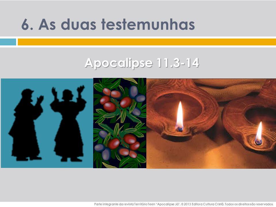 6. As duas testemunhas Apocalipse 11.3-14