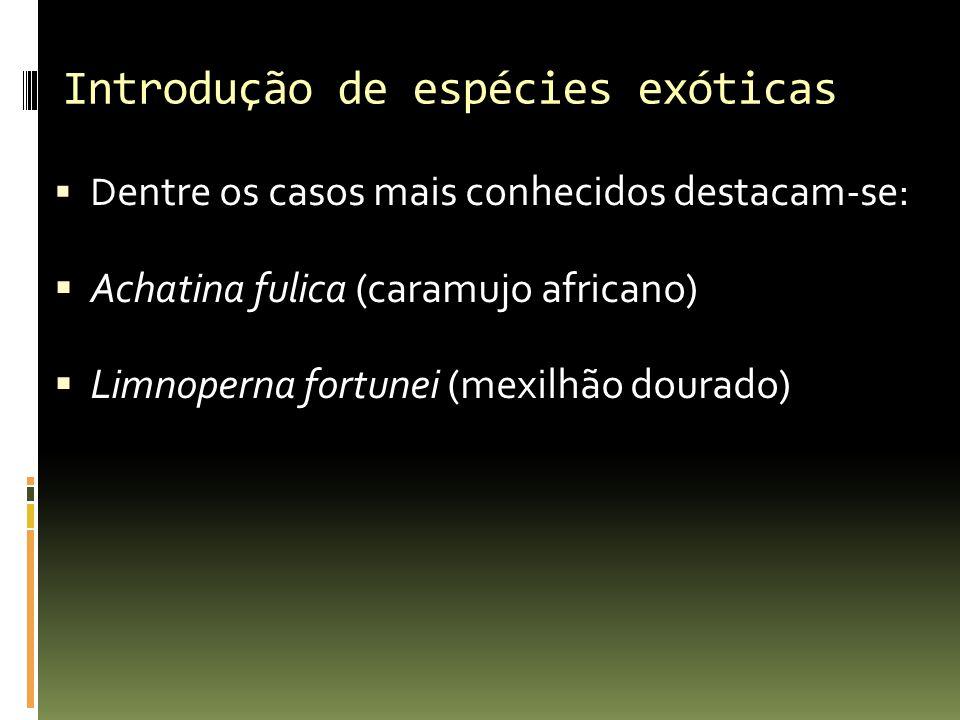 Introdução de espécies exóticas