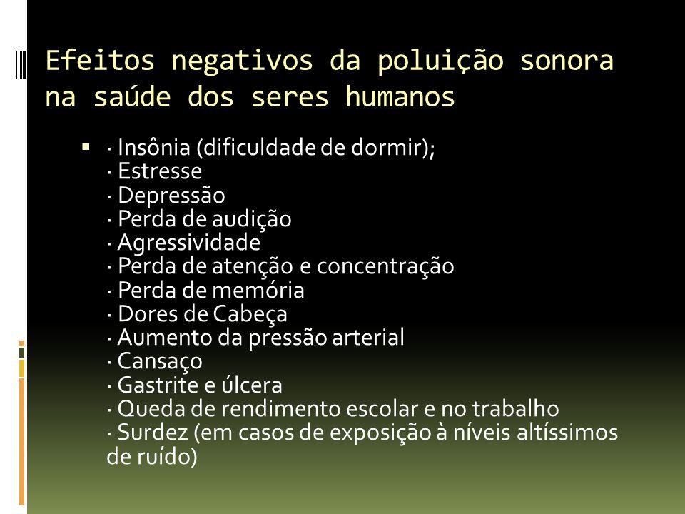 Efeitos negativos da poluição sonora na saúde dos seres humanos