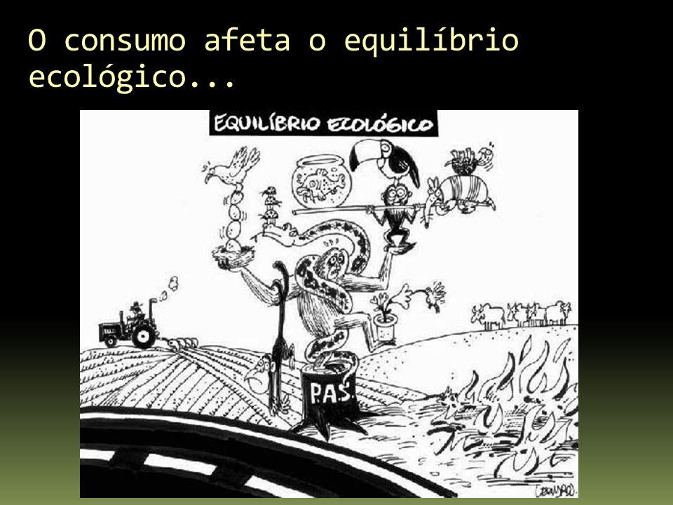 O consumo afeta o equilíbrio ecológico...