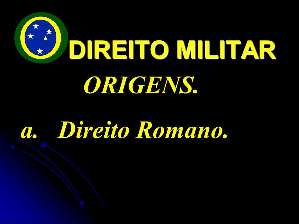 DIREITO MILITAR ORIGENS. Direito Romano.