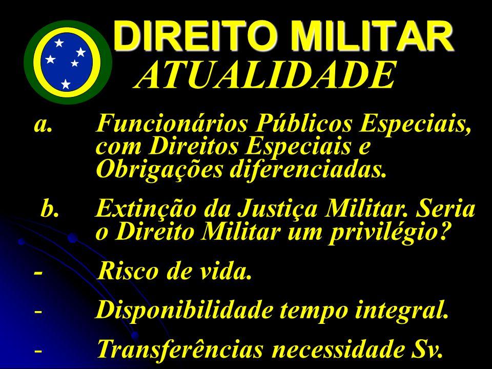 DIREITO MILITAR ATUALIDADE