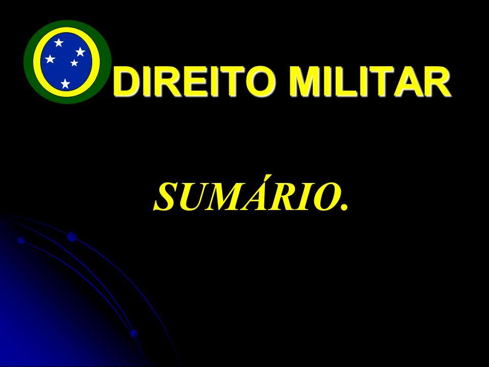 DIREITO MILITAR SUMÁRIO.