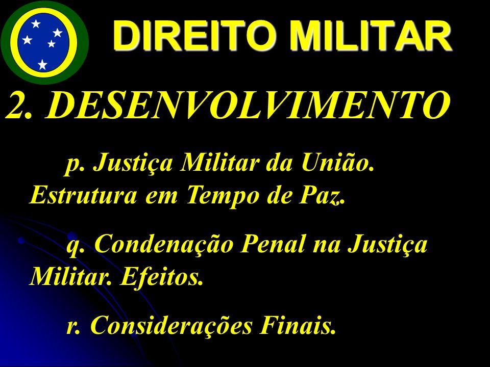 DIREITO MILITAR 2. DESENVOLVIMENTO